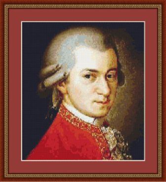 classical composer cross stitch portraits