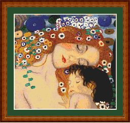 klimt mother and child