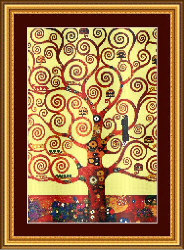 klimt tree of life framed