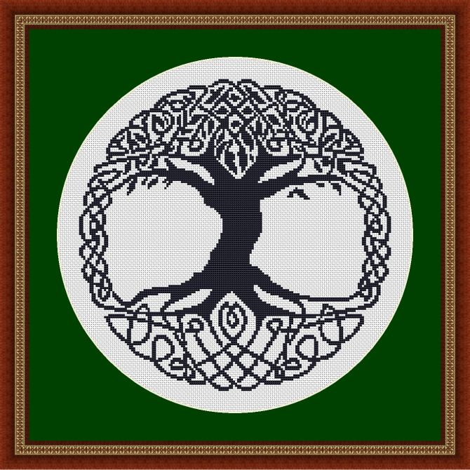 celtic tree framed
