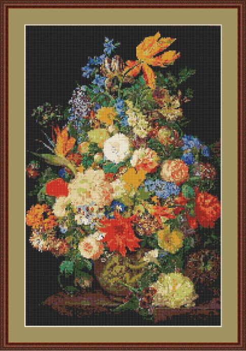 flower vase framed